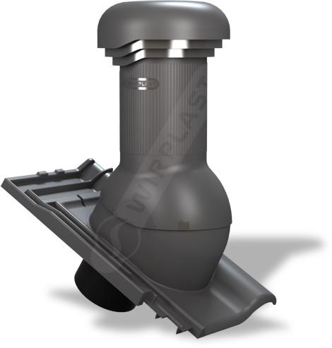 WIRPLAST Kominek z odpływem kondensatu Tile Pro do dachówki betonowej - 125mm TILE_PRO_125