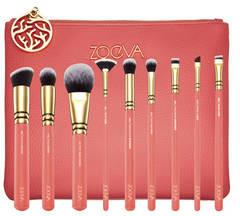ZOEVA Coral Shine Brush Set - Zestaw pędzli do twarzy i oczu