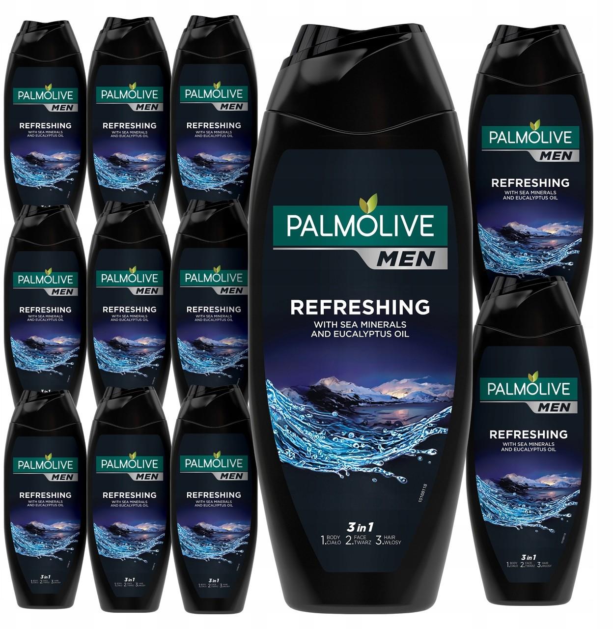 Palmolive Men żel pod prysznic męski 3w1 12x500ml