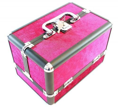 Aptel Kufer 25x17x17cm purpurowy kosmetyczny CA4P