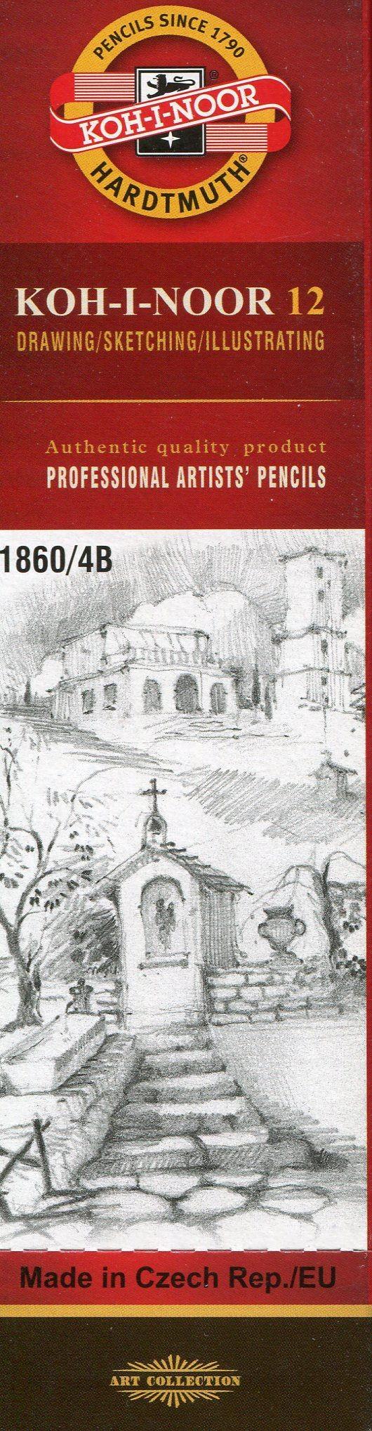Koh-I-Noor Koh-I-Noor Ołówek grafitowy 1860/4B 12 szt