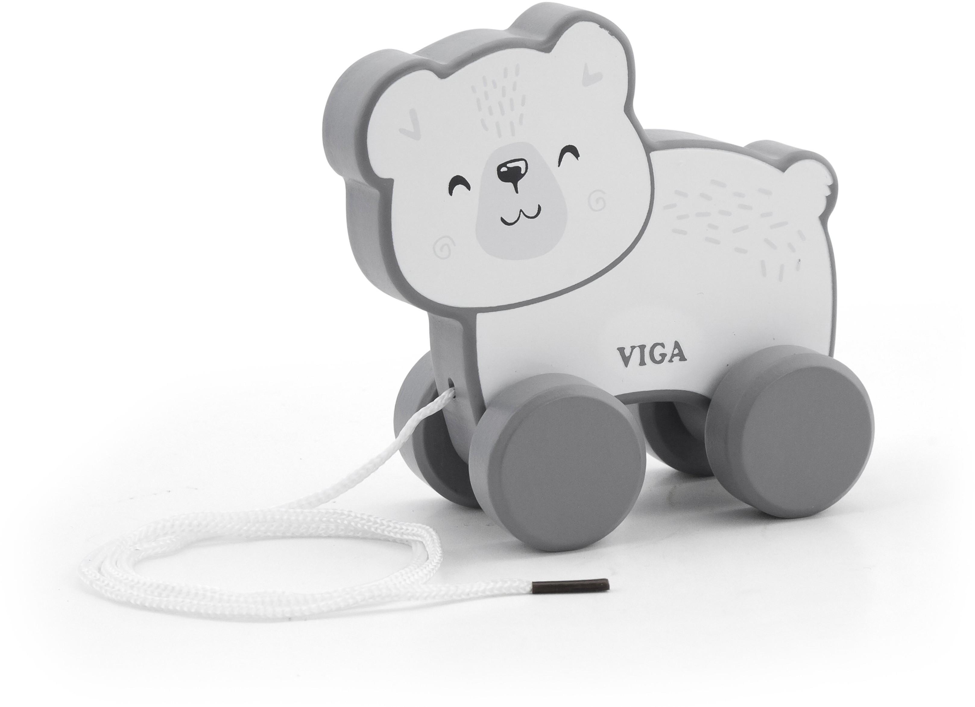 VIGA TOYS Viga Drewniany Miś Polarny do ciągnięcia - PolarB 44001