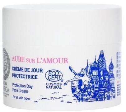 Natura Siberica Aube Sur L'Amour Protection Day Face Cream ochronny krem do twarzy na dzień Hydrolat z Róż Rose de Grasse & Wiesiołek 50ml 58141-uniw