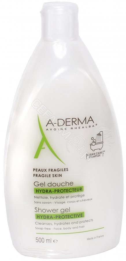 A-Derma Hydra-Protective nawilżający żel pod prysznic 500 ml