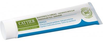 Cattier Pasta do zębów z glinką i propolisem remineralizująca EKO 75 ml -