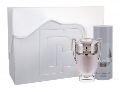 Paco Rabanne Invictus zestaw Edt 100ml + 150ml Deodorant dla mężczyzn
