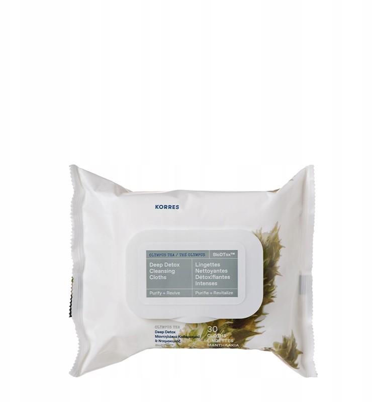 Korres Chusteczki Oczyszczające Detox Herbata 30 s