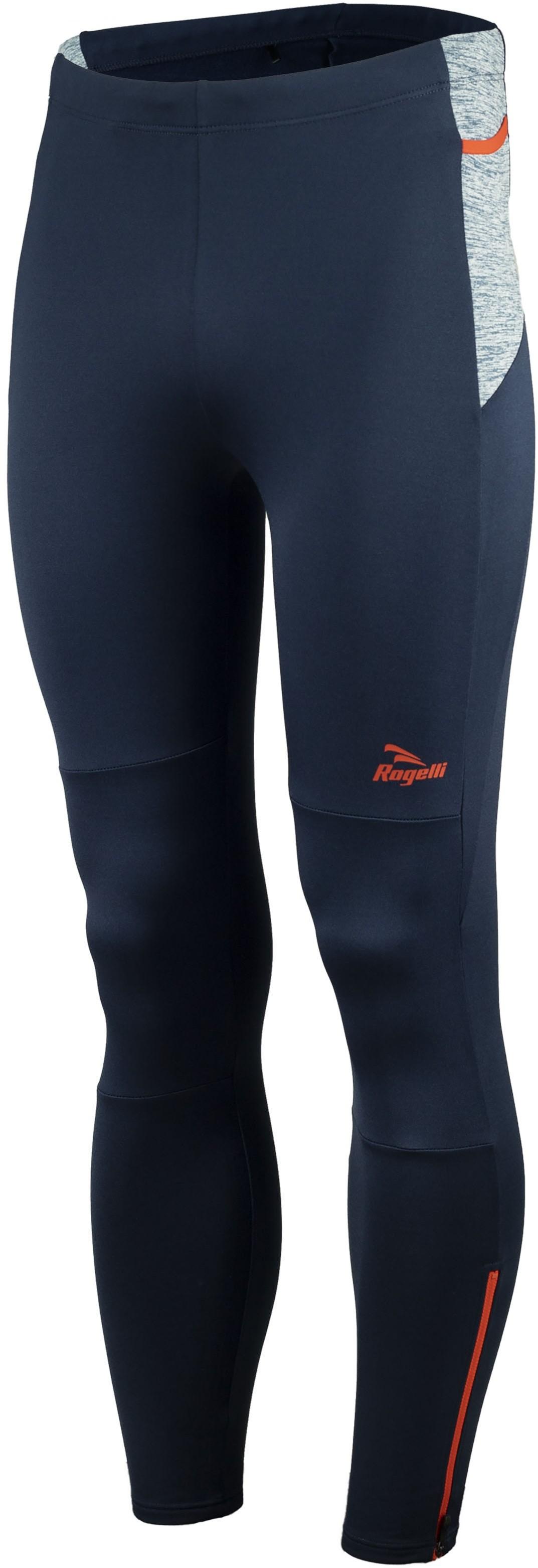 Rogelli BROADWAY 830.741 męskie ocieplane spodnie biegowe niebiesko-czerwone