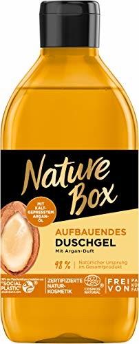 Nature Box budujący żel pod prysznic o zapachu arganowym, 250 ml