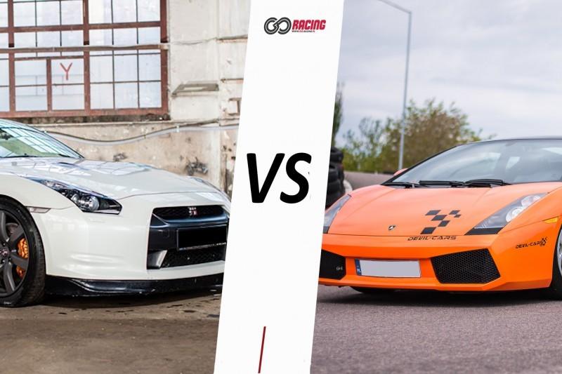 go racing Lamborghini Gallardo vs Nissan GTR : Ilość okrążeń - 6, Tor - Tor Olsztyn, Usiądziesz jako - Kierowca