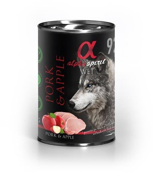 Alpha Spirit Adult All Breed Pork & Apple 400g - mokra karma dla dorosłych psów wszystkich ras wieprzowina i jabłko 400g Dostawa GRATIS od 99 zł