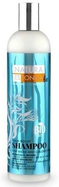 Eurobio Lab Natura Estonica bio Aqua Boost Szampon do włosów farbowanych i osłabionych 400ml 1234585504