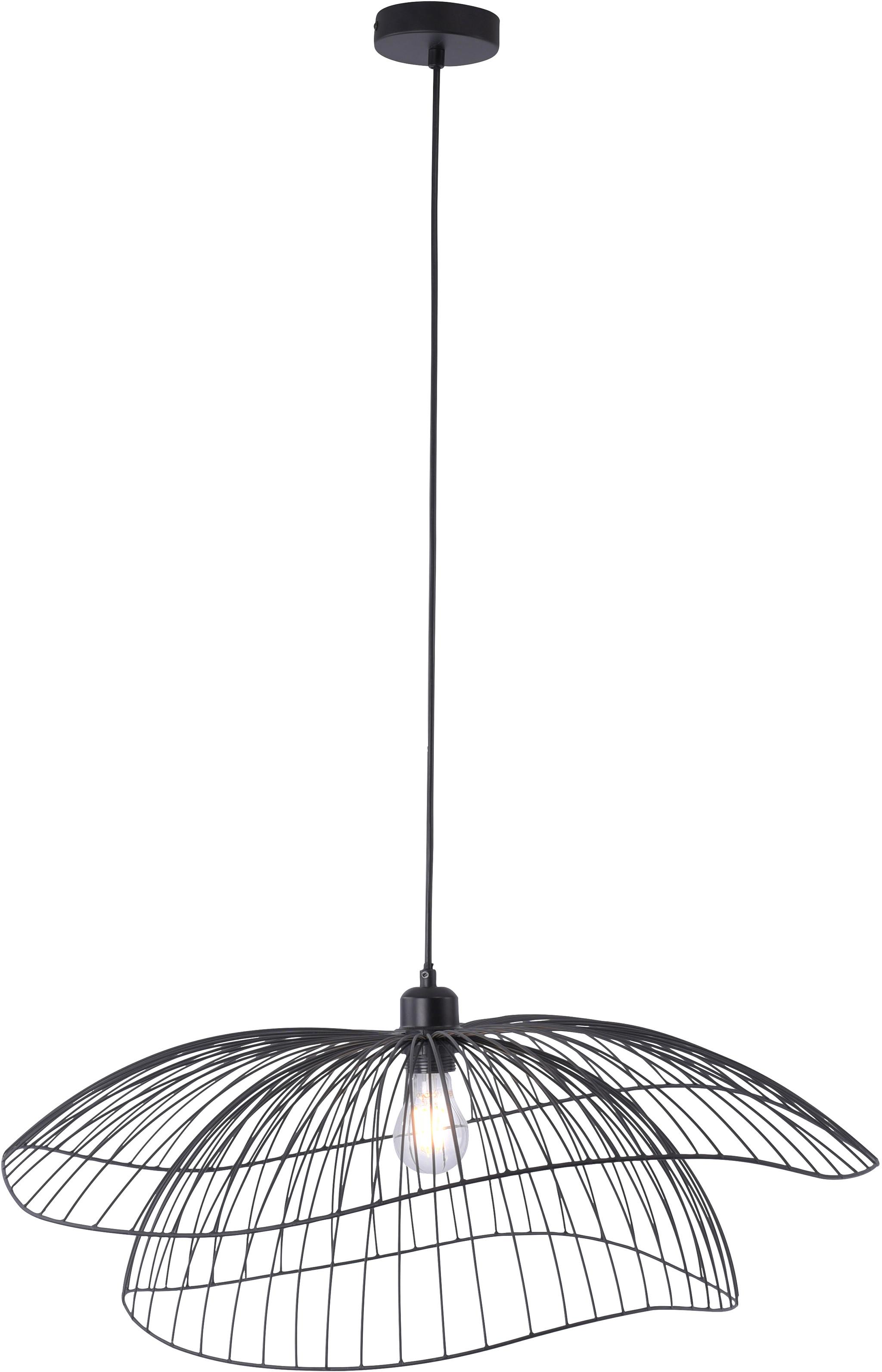 Leuchten Direct Designowa lampa wisząca czarna 66 cm - Pua 99000
