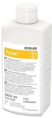 Ecolab Emulsja do mycia rąk Forlan, na bazie mydła : Pojemność - 500 ml, Rodzaj opakowania - Butelka zakręcana NN-MEC-DSCB-502