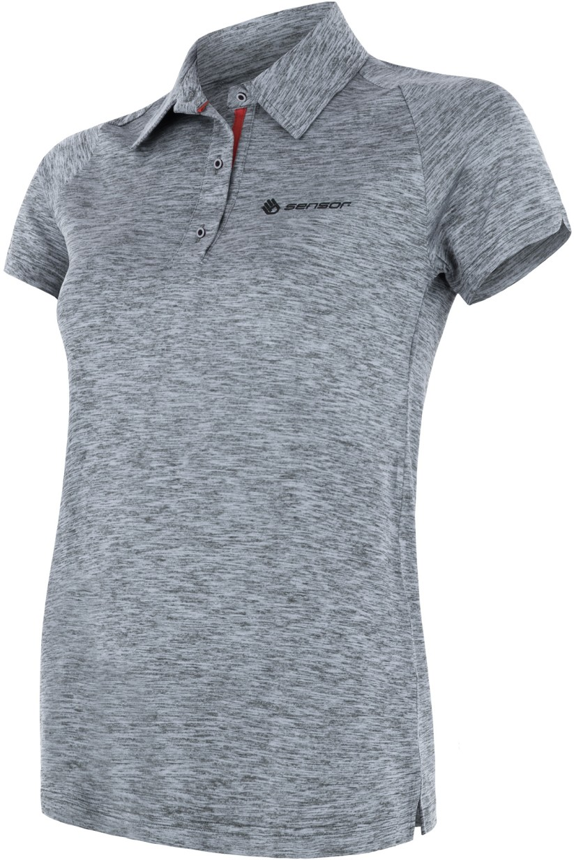 Sensor t shirt damski polo Motion szary M