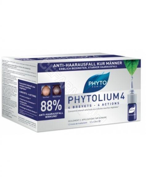 Phyto phytolium 4 kuracja przeciw wypadaniu włosów typu męskiego x 12 amp