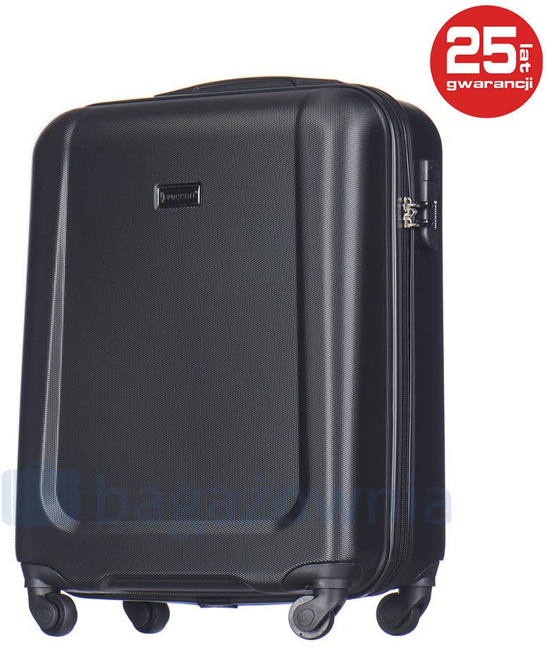 688b6e9a213ee Puccini Mała kabinowa walizka IBIZA ABS04C 1 Czarna - czarny ABS04C 1