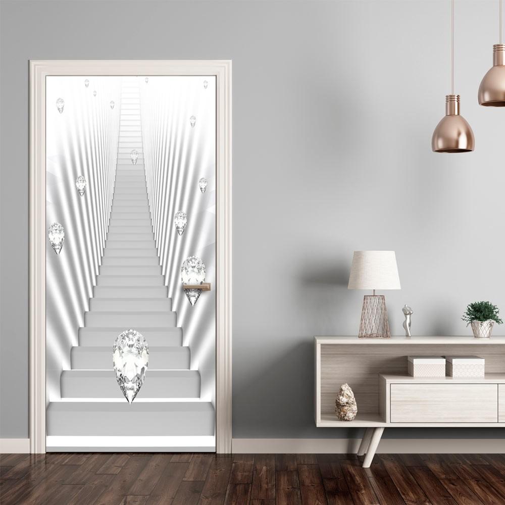 Artgeist Fototapeta na drzwi - Tapeta na drzwi - Białe schody i klejnoty A0-TNTTUR_70_0348