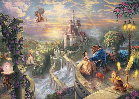Schmidt Spiele Spiele, Thomas Kinkade, puzzle Piękna i Bestia (Disney)