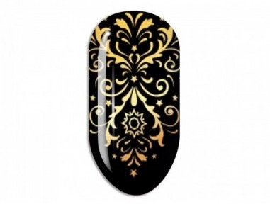 Nail Art Mollon Pro Stikers Mollon Pro F123G naklejki do zdobienia