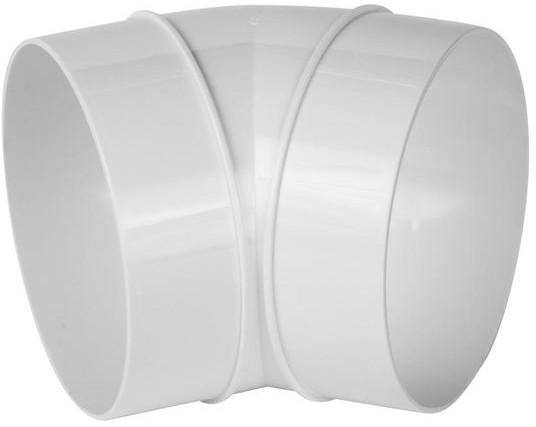EQUATION Kolanko kanału wentylacyjnego okrągłego OKRĄGŁE 45° 125 mm EQUATION