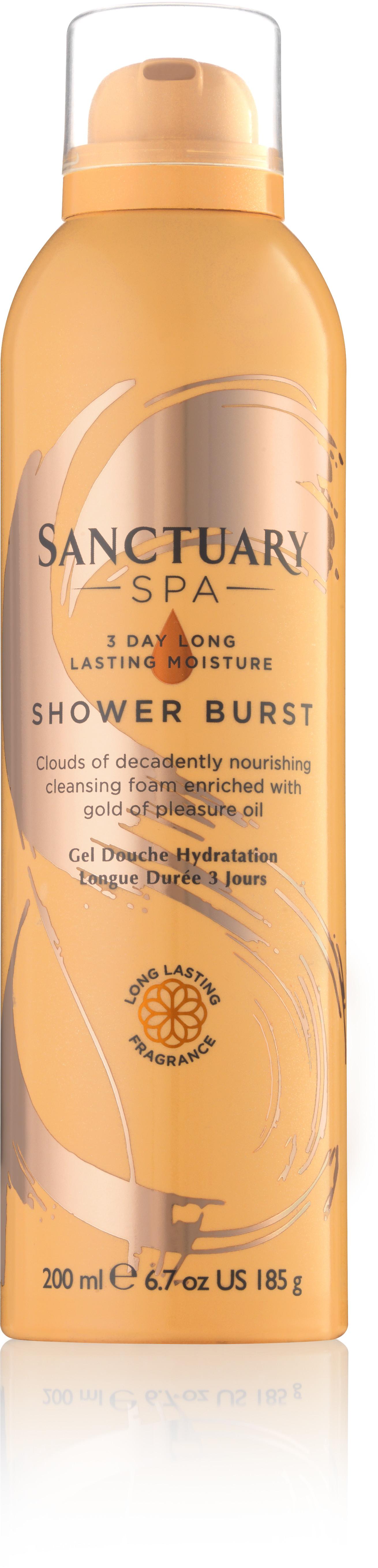 SANCTUARY Spa Shower Burst 3 Day Long Lasting Moisture 200 ml Luksusowa głęboko nawilżająca pianka pod prysznic Spa LETNIA WYPRZEDAŻ DO 80%