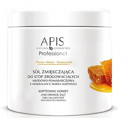 Apis Professional Zmiękczająca sól do stóp zrogowaciałych - Professional Softening Honey And Orange Salt Zmiękczająca sól do stóp zrogowaciałych - Professional Softening Honey And Orange Salt