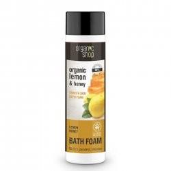 Organic Shop Shop naturalny wygładzający płyn do kąpieli Cytryna&Miód 280ml