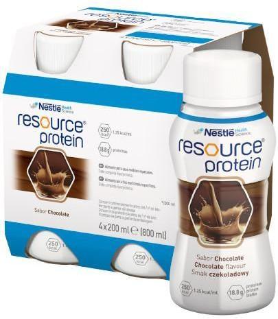 Nestlé Polska Resource Protein preparat odżywczy w płynie smak czekoladowy 4x 200 ml 3650271