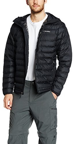 Columbia Powder Lite kurtka męska z kapturem, czarny, S WO1151010S
