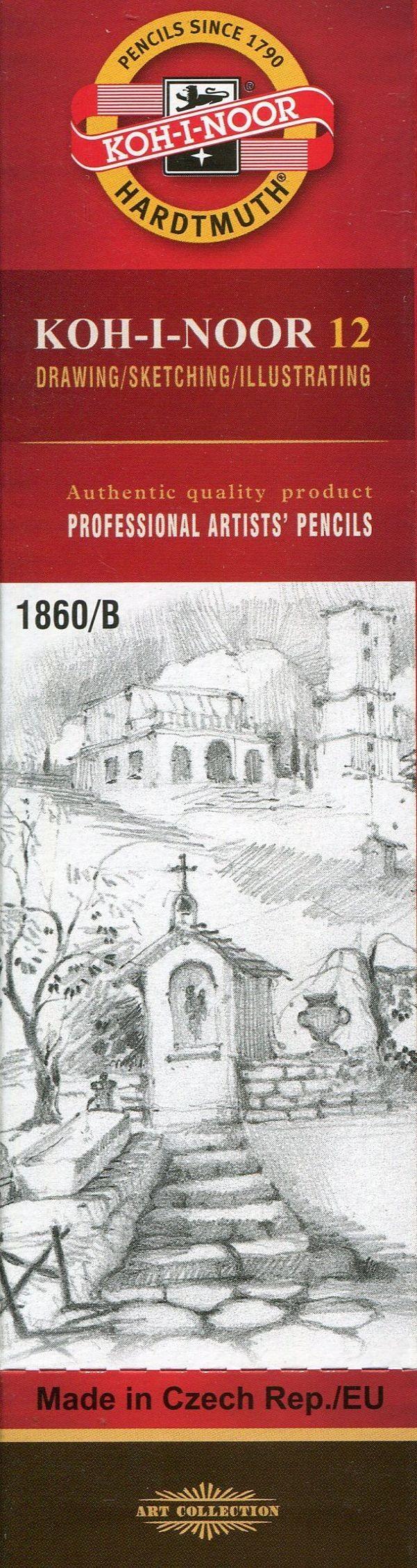 Koh-I-Noor Koh-I-Noor Ołówek grafitowy 1860/B Gold Star 12 szt