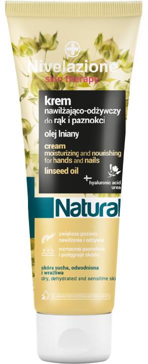 Nivelazione Skin Therapy NIVELAZIONE Skin Therapy Natural Nawilżająco-odżywczy krem do rąk i paznokci z olejem lnianym NIM0035