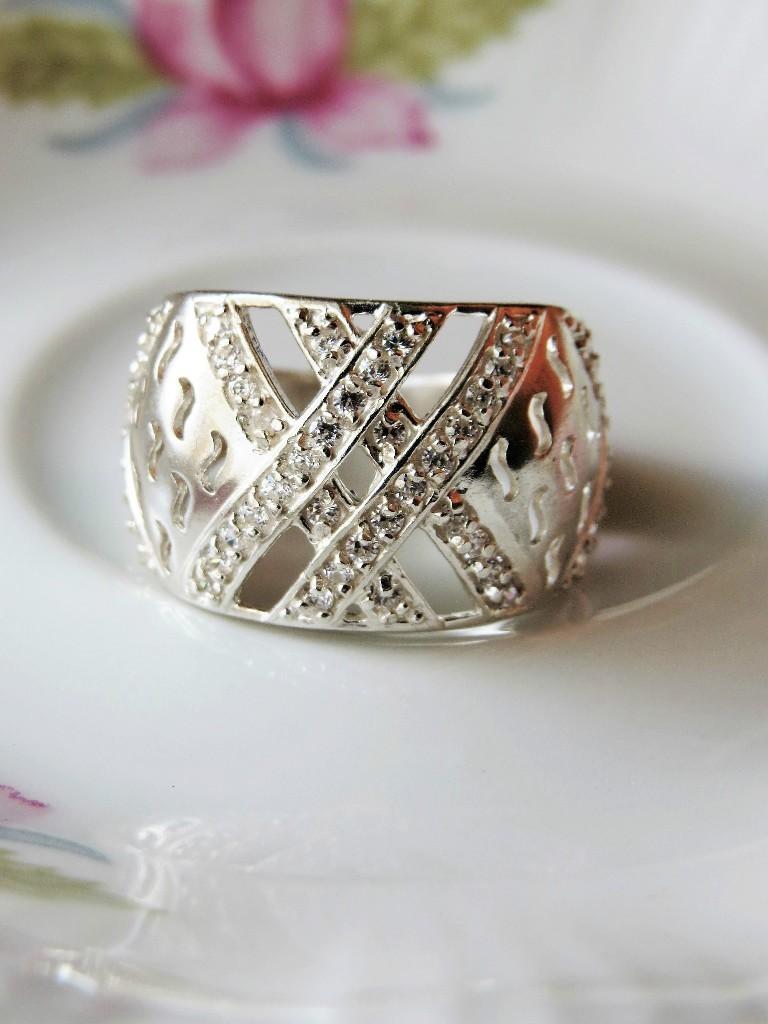 Srebrny pierścionek koszyczek r. 14 SP054