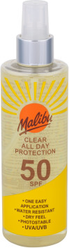 MALIBU Clear All Day Protection SPF50 preparat do opalania ciała 250 ml unisex