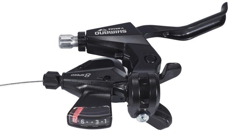 Shimano Shimano ST-M310 Dźwignia hamulca / przerzutki 8-prędkości prawe, black 2020 Dźwignie hamulców tarczowych E-STM3102R8ALT