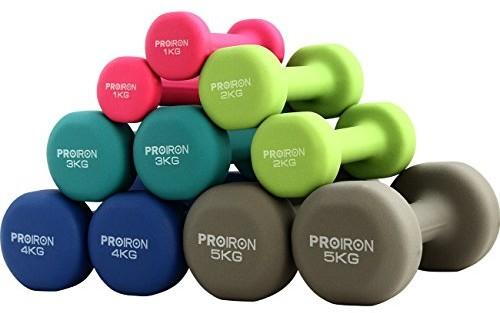 Tko Proiron Neopren 5 różnych ciężarów i kolorów (zestaw 2 szt.) PRKNED04K