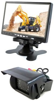 LAGO MEDIA Zestaw monitor LCD 7 cali z kamerą cofania Model zestawu CP770+CAM9-120 LAGO CP770+CAM9-120 LAGO