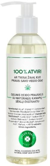Green Feel'S Green FeelS Green FeelS Żel do mycia twarzy z naturalnym ekstraktem z nasion konopi 250ml