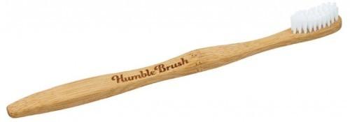 Humble Brush White - Ekologiczna szczoteczka do zębów z bambusa, miękka, biała Szc000302