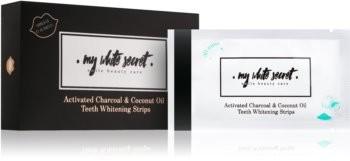 My White Secret My White Secret Charcoal and Coconut Oil paski wybielające do zębów 14 szt