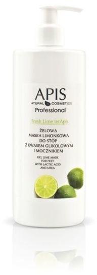 Apis Professional Fresh Lime terApis Żelowa maska limonkowa do stóp z kwasem glikolowym i mocznikiem 500 ml