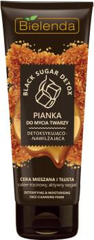 Bielenda BLACK SUGAR DETOX Detoksykująco nawilżająca pianka do mycia twarzy 150ml 42556-uniw