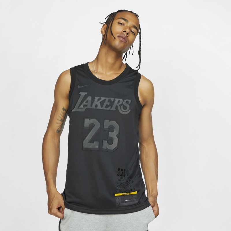 Nike Męska koszulka NBA Connected Jersey LeBron James MVP Swingman (Los Angeles Lakers) - Czerń CI2030-010