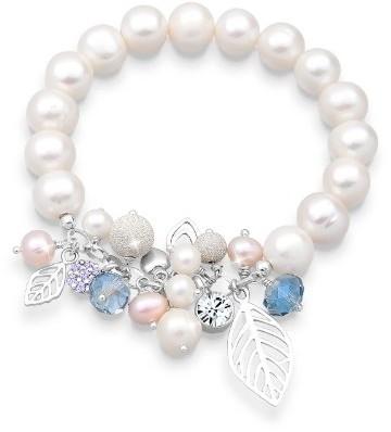 Elli Bransoletka damski  srebro 925wysokiej próby słodkowodna perła hodowlana długość 18cm 0212260412_ 18 0212260412_18