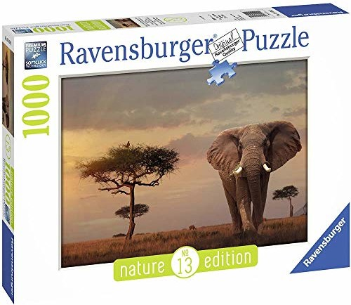 Ravensburger 15159 - słoń w Masai Mara National Park - 1000 części...