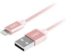Kabel GND USB lightning MFI 2m opletený LIGHTN200MM09) Różowy