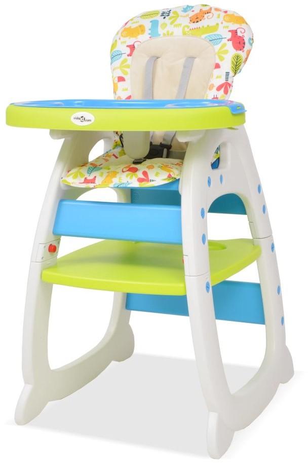 VidaXL Ze stolikiem 3w1 niebieski/zielony/biały