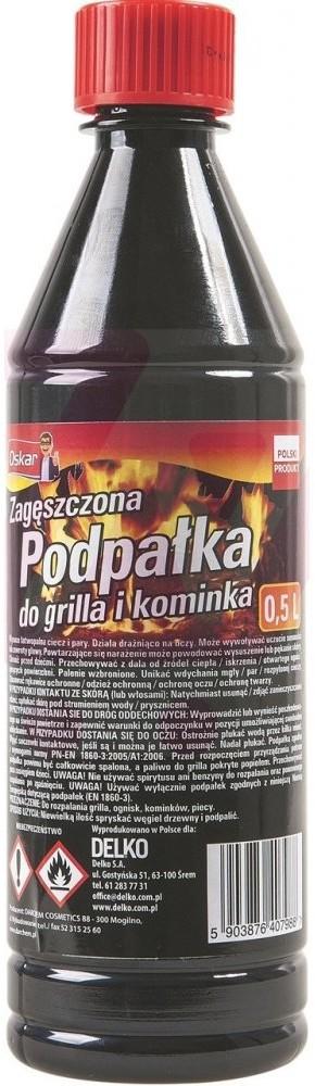 Delko OSKAR Podpałka do grilla płynna 500ml
