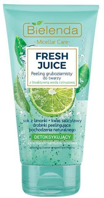 Bielenda Fresh Juice peeling gruboziarnisty detoksykujący z wodą cytrusową Limonka 150g 86798-uniw