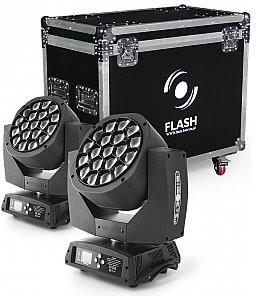 Flash Butrym 2x LED GŁOWICA RUCHOMA BIG EYE 19x15W (ZESTAW) F7100102